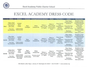 Excel Academy Uniform Requirements